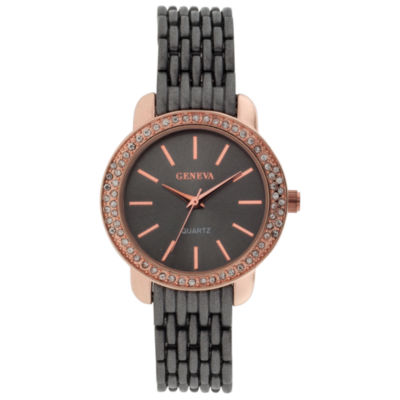 Geneva Womens Black Bracelet Watch-Jcp3006gr