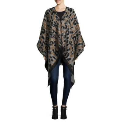 Mixit Reversible Toggle Animal Print Cold Weather Wrap