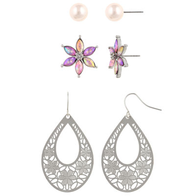 Decree 3 Pair Pink Earring Set