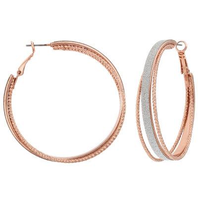 Decree 1 3/4 Inch Hoop Earrings
