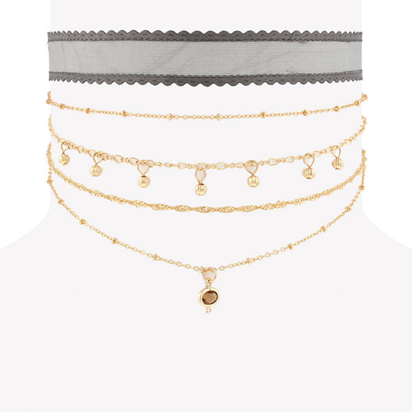 Decree Womens Choker Necklace