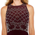 Jackie Jon Sleeveless Beaded Bodice Formal Gown