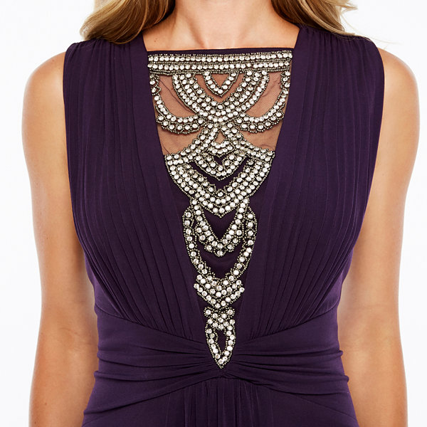 Melrose Sleeveless Embellished Evening Gown