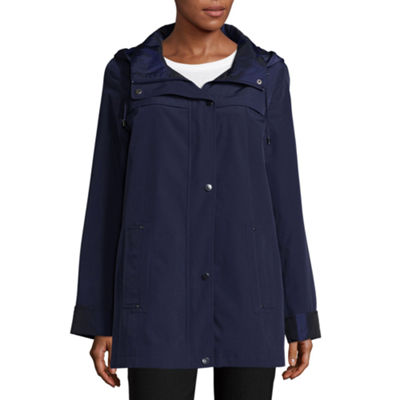 St. John's Bay Water Resistant Lightweight Raincoat