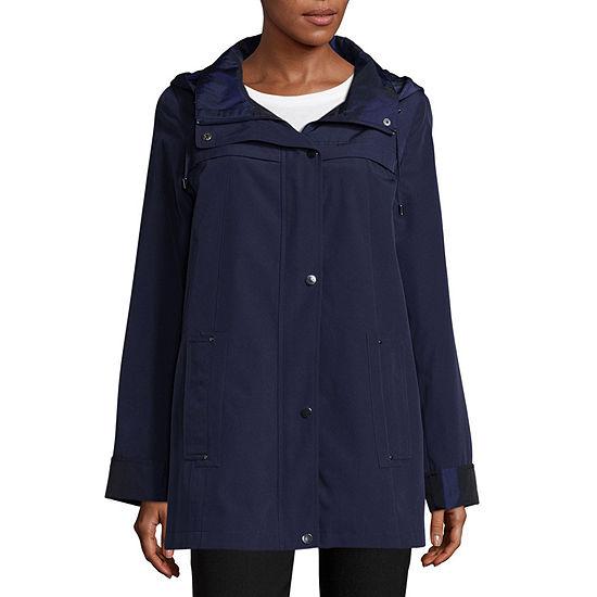 St. John's Bay Water Resistant Lightweight Raincoat