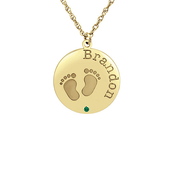 Womens Personalized 10K Gold Pendant Necklace