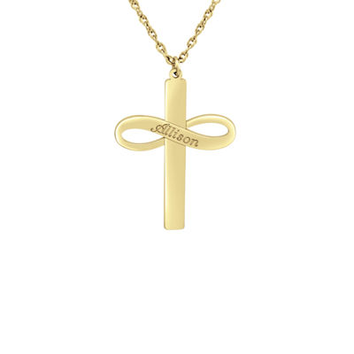 Womens 24K Gold Over Silver Pendant Necklace