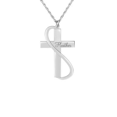 Womens Sterling Silver Pendant Necklace