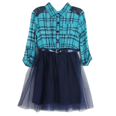 Lilt Long Sleeve Tutu Dress - Preschool Girls