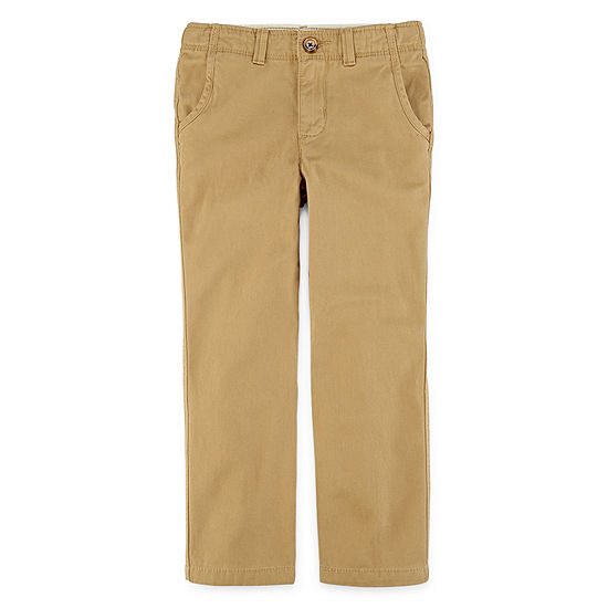 Arizona Boys Straight Flat Front Pant-Preschool