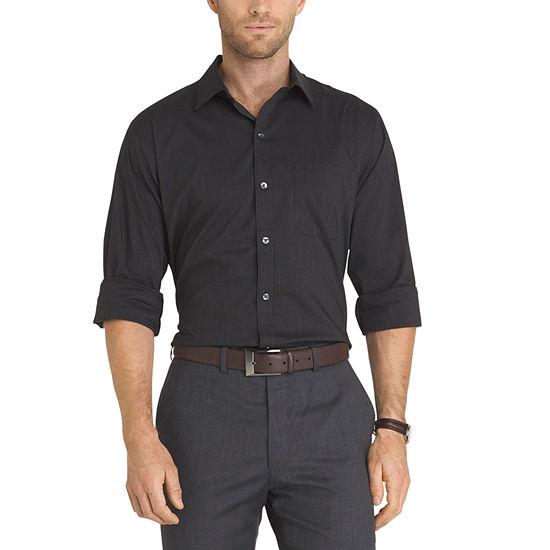 Van heusen long sleeve slim fit traveler non iron stretch for Van heusen non iron shirts