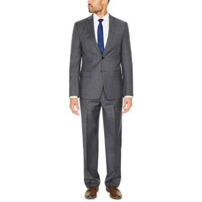 Collection by Michael Strahan Blue Gray Stripe Suit Separates-Classic
