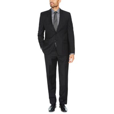 Collection by Michael Strahan Black Windowpane Suit Separates-Classic