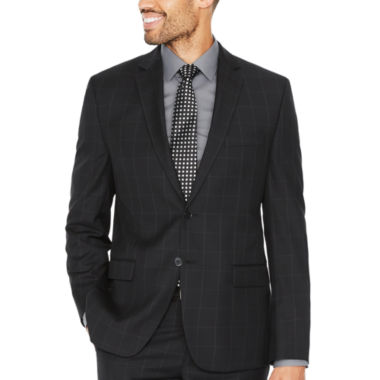 Collection by Michael Strahan Black Windowpane Classic Fit Suit Jacket