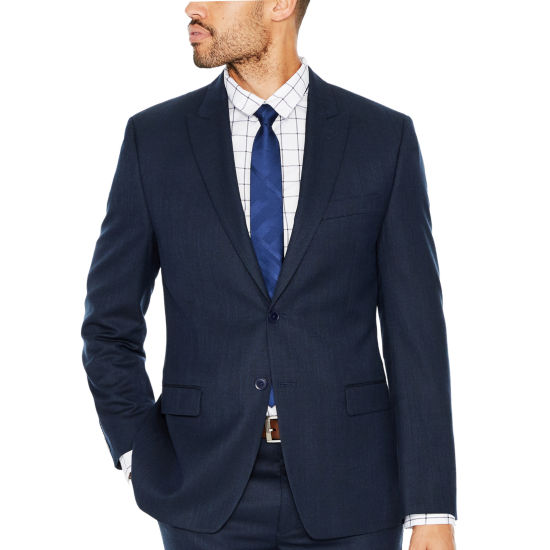 Collection by Michael Strahan Navy Birdseye Classic Fit Suit Jacket