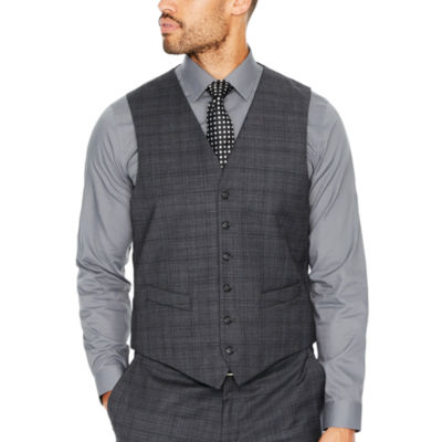 Stafford Plaid Classic Fit Suit Vest