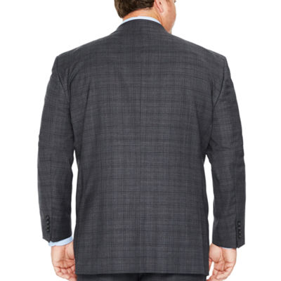 Stafford Plaid Classic Fit Suit Jacket-Big and Tall