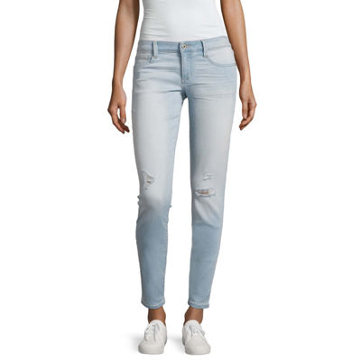 Arizona Ripped Skinny Fit Jeans-Juniors