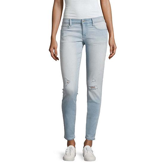 Arizona Ripped Skinny Fit Jeans-Juniors