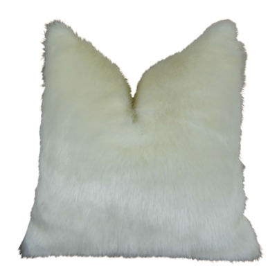 Plutus Arctic Fox Handmade Throw Pillow