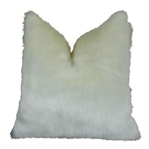 Plutus Arctic Fox Handmade Throw Pillow