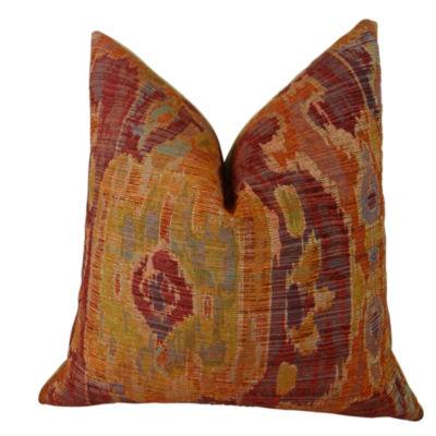 Plutus Bear Canyon Ikat Handmade Throw Pillow