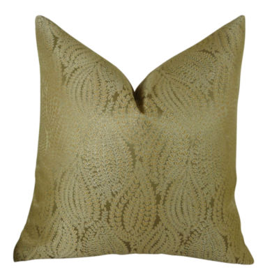 Plutus Leaf Pod Handmade Throw Pillow