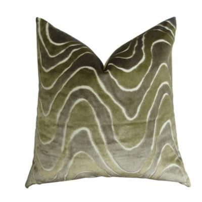 Plutus Lush Wave Handmade Throw Pillow