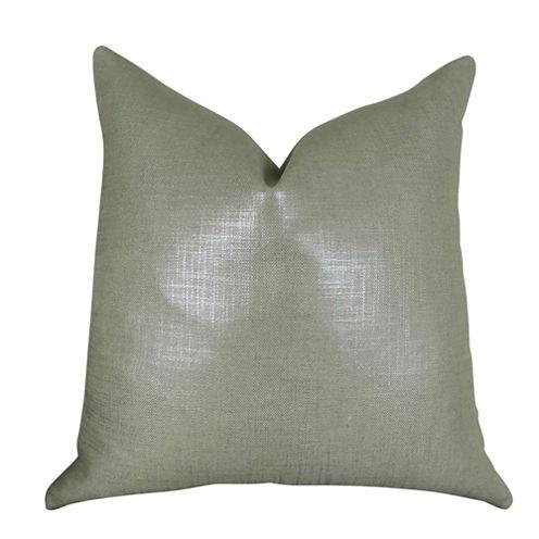 Plutus Glazed Linen Steel Handmade Throw Pillow