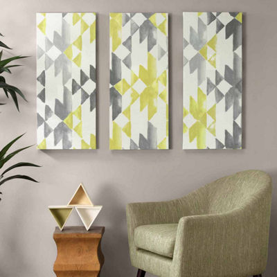 INK + IVY Yellow Sierra Printed Canvas Art