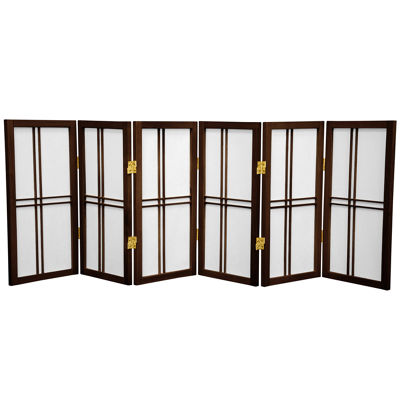 Oriental Furniture 2' Double Cross Shoji 6 Panel Room Divider