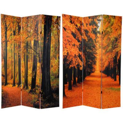 Oriental Furniture 6' Autumn Trees Room Divider