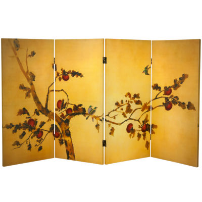 Oriental Furniture 3' Birds On Plum Tree Room Divider