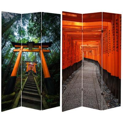 Oriental Furniture 6' Japanese Torii Gate Room Divider