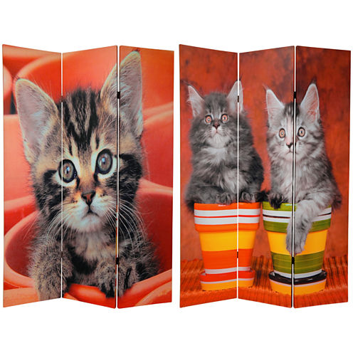 Oriental Furniture 6' Kittens Room Divider