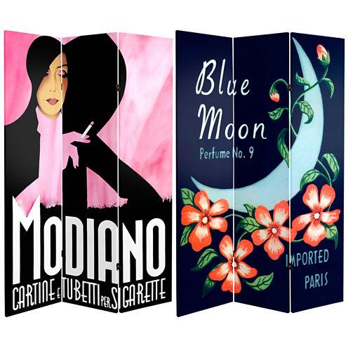 Oriental Furniture 6' Modiano Blue Moon Room Divider