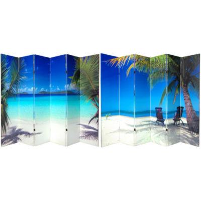 Oriental Furniture 6' Beach 6 Panel Room Divider