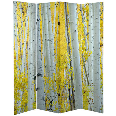 Oriental Furniture 6' Birch Trees Room Divider