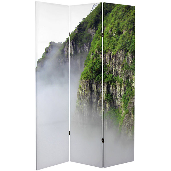 Oriental Furniture 6' Mountaintop Waterfall Room Divider