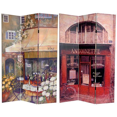 Oriental Furniture 6' Brasserie Room Divider