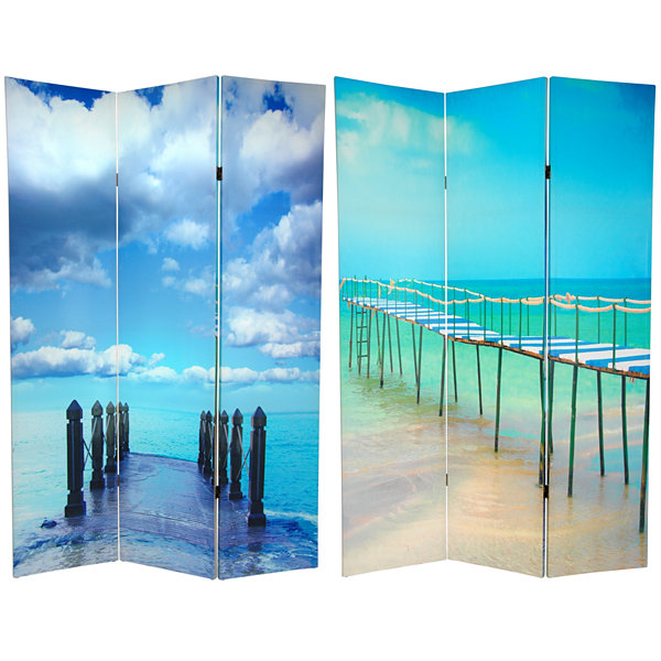 Oriental Furniture 6' Ocean Room Divider