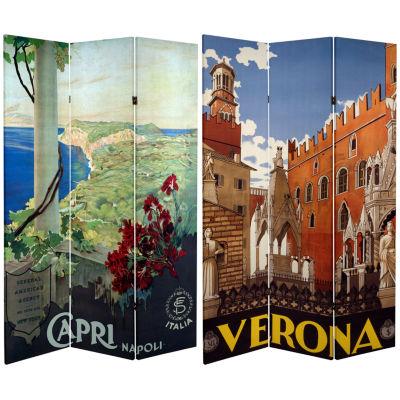Oriental Furniture 6' Capri Verona Room Divider