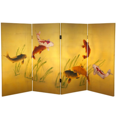 Oriental Furniture 3' Seven Lucky Fish Room Divider