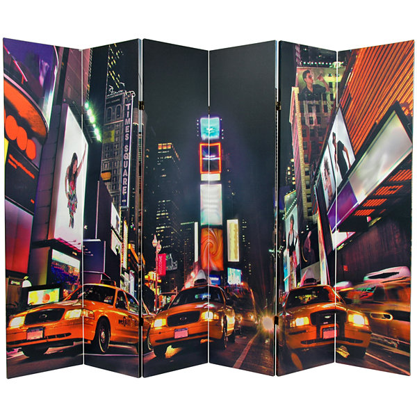 Oriental Furniture 6' New York Taxi Room Divider