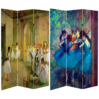 Oriental Furniture 6' Works Of Degas Dancers RoomDivider