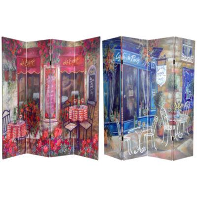 Oriental Furniture 6' Parisian Cafe Room Divider