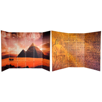 Oriental Furniture 6' Egyptian Pyramid Room Divider