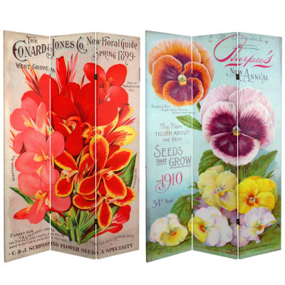 Oriental Furniture 6' Flower Seeds Room Divider