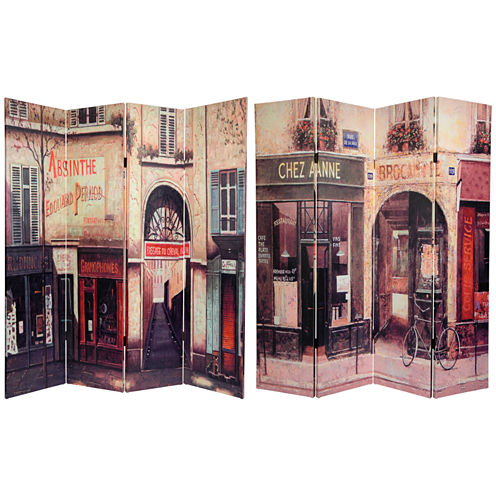 Oriental Furniture 6' French Cafe Room Divider