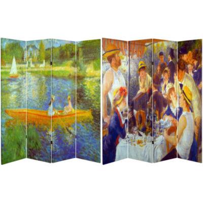 Oriental Furniture 6' Works Of Renoir Room Divider
